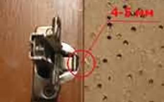 Как просверлить отверстие для петли шкафа?