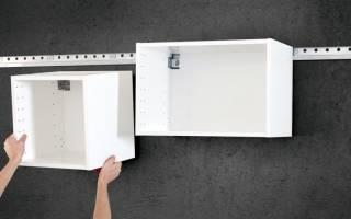 Как крепить верхние шкафы кухни?