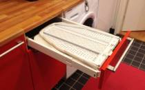 Как встроить гладильную доску в шкаф купе?