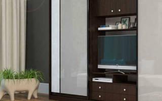 Как встроить телевизор в шкаф купе?
