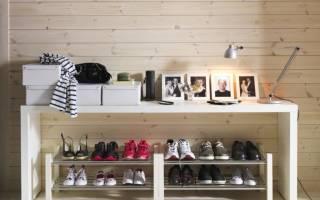 Как сделать полку для обуви из ДСП?