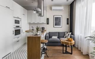 Как отделить аркой гостиную от кухни?