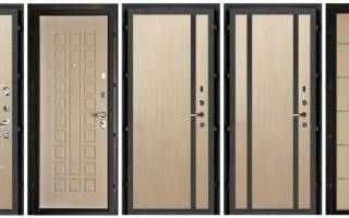 Обшивка панелями МДФ железную дверь
