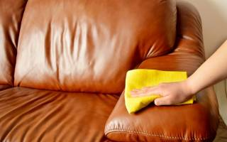 Как мыть кожаную мебель?