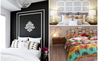 Как декорировать спинку кровати?