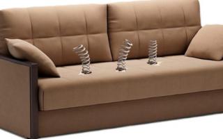 Как починить раскладной диван?