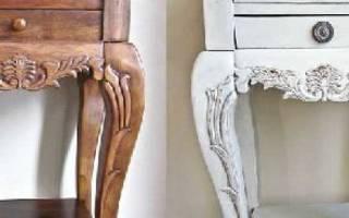 Как красить мебель из дерева?