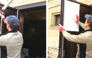Как сделать пароизоляцию у входной железной двери?