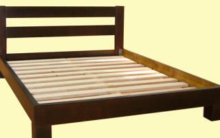 Как сделать каркас для кровати из дерева?