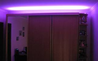 Как сделать подсветку в стеклянном шкафу?