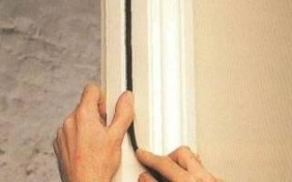 Как правильно клеить уплотнитель на входную дверь?