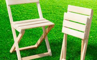 Как сделать стул со спинкой из дерева?