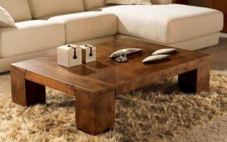 Как самому сделать журнальный столик из дерева?