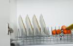 Как собрать сушку для посуды в шкаф?