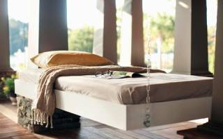 Как сделать навесную кровать?