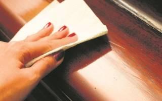 Как удалить жир с деревянной мебели?