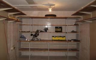 Как сделать стеллажи в гараже из дерева?