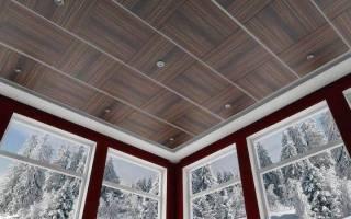 Потолок на кухне из МДФ панелей