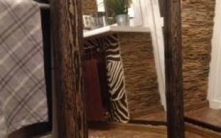 Как сделать рамку для зеркала из дерева?