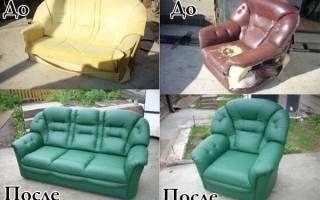 Как обшить старую мебель?