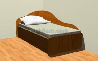 Как самому сделать кровать из ДСП?