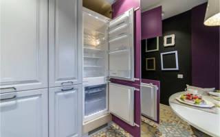 Как правильно встроить холодильник в шкаф?