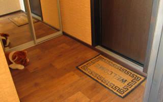 Как сделать порожек у входной двери?