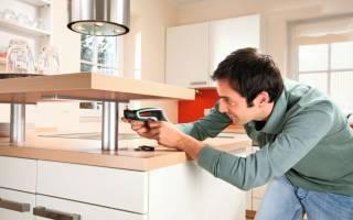 Как правильно выровнять нижний ряд кухни?