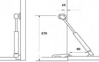Как отрегулировать подъемный механизм в кухонном шкафу?