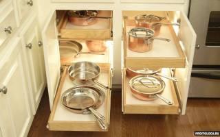 Какие шкафы удобные для кухни?