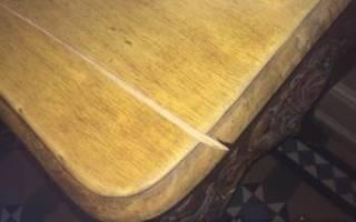 Как заделать трещину на мебели?