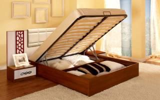 Как крепится подъемный механизм к кровати?