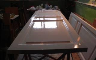 Как перекрасить ламинированную дверь?