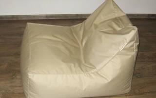 Как делают бескаркасную мебель?