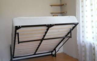 Как сделать опускающуюся кровать?