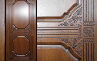 Отделка деревянных дверей панелями МДФ