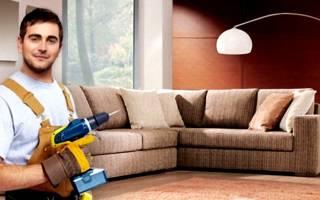 Как открутить подлокотник у дивана?