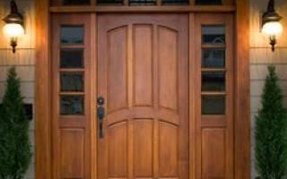 Как делать двери из дерева?