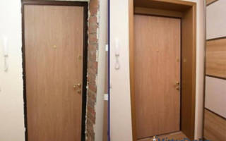Как отделать дверной проем входной двери?