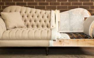 Как перетянуть старый пружинный диван?