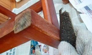 Как покрасить шпонированную мебель?